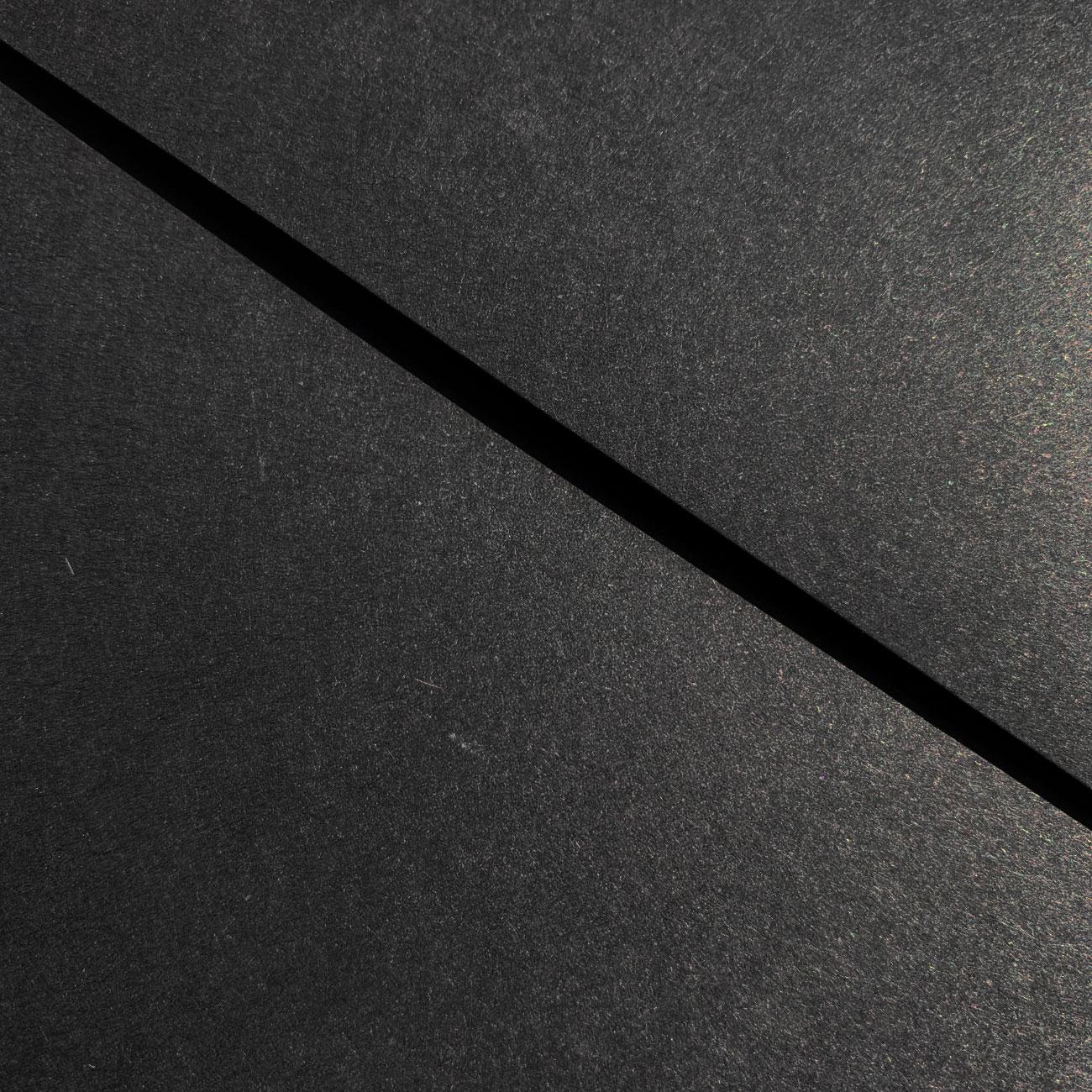 Schwartz Mappe, Klettpunktverlschluss, schwarz,