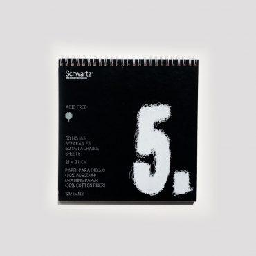 SCHWARTZ – Skizzenblock 21 x 21 cm
