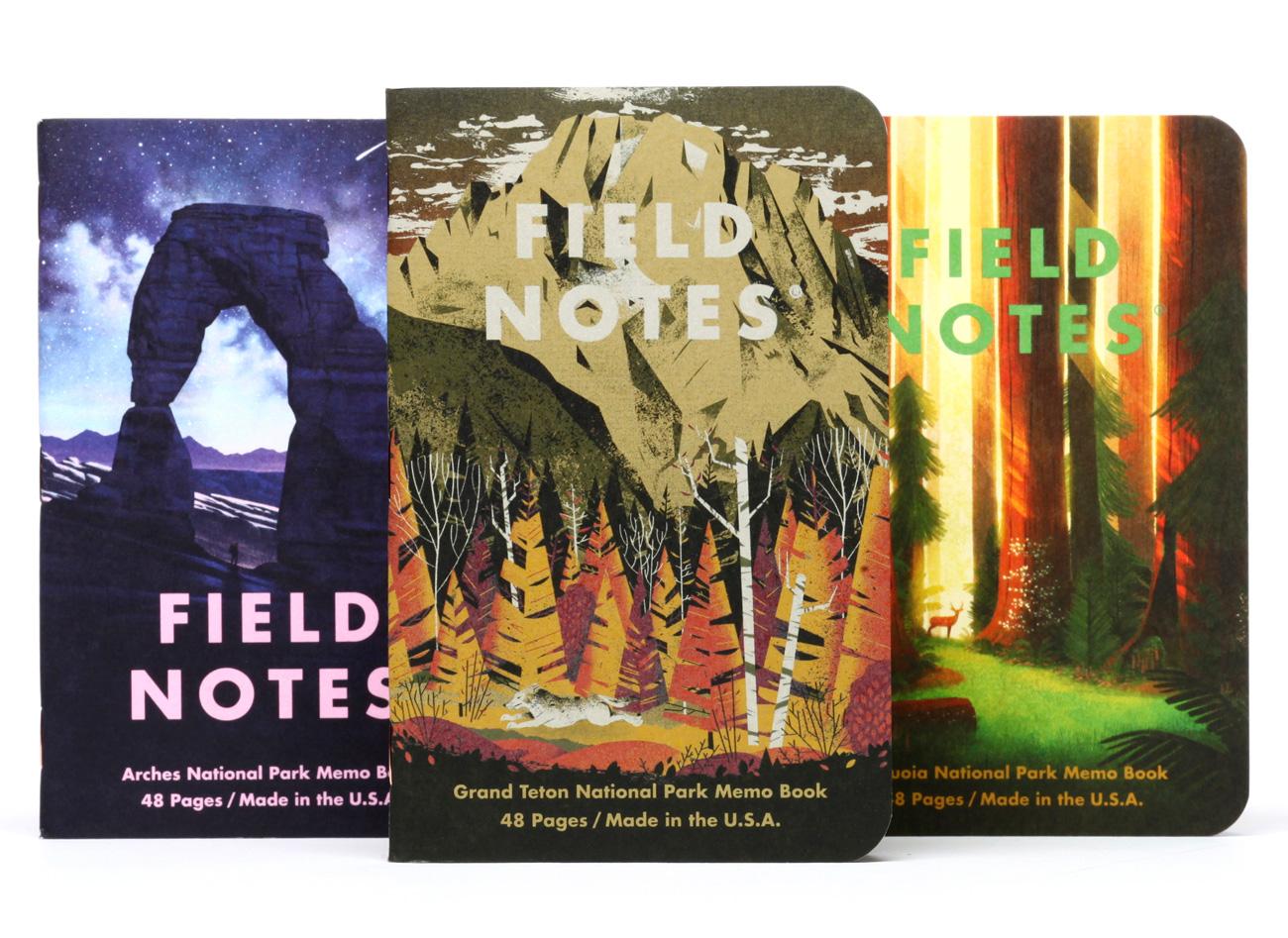 Field Notes National Park Edition, SerieD, Notizhefte 3er-Pack