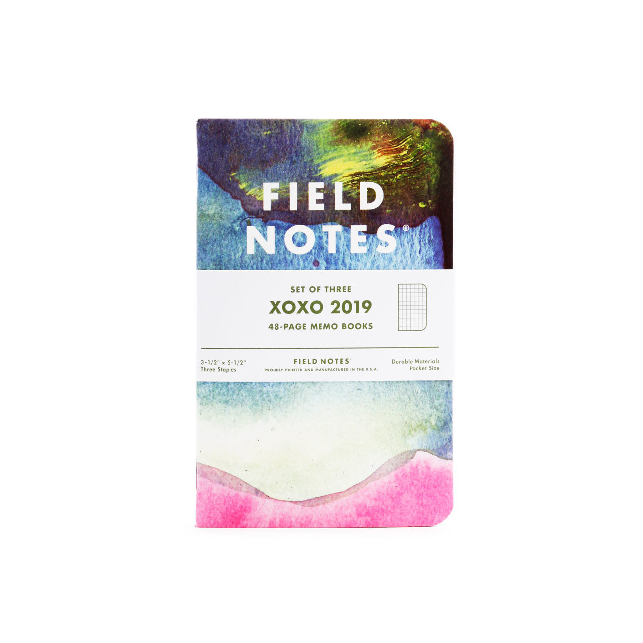 Field Notes, XOXO Edition, 2019, 3erpack Notizhefte,