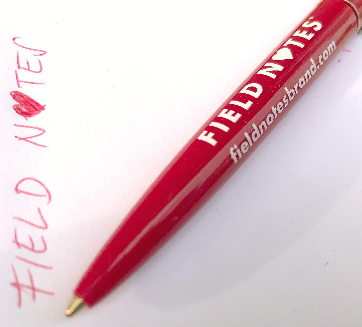Field Notes Kugelschreiber, Rot, weißes Logo,