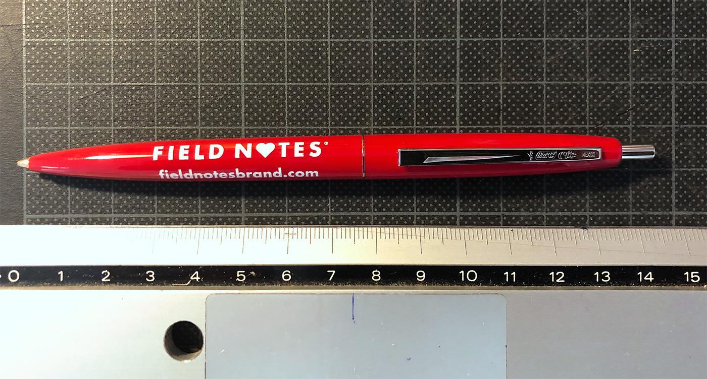 Field Notes Kuli, Rot, schreibt rot,