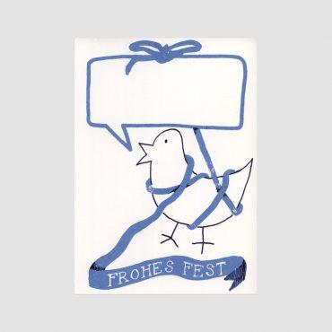 SEÑOR BURNS – Postkarte FROHES FEST Vögelchen