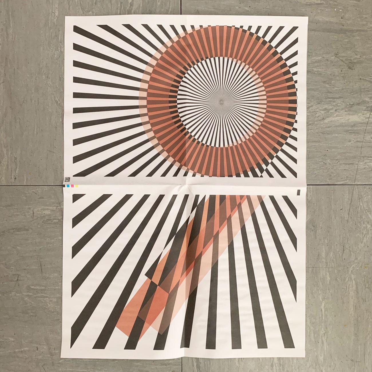 Geschenkpapier, neun, Strahlen, Umwerk-Design,