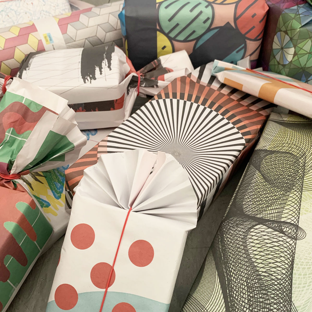 Umwerk, Geschenkpapier, Set, 12 Blatt,