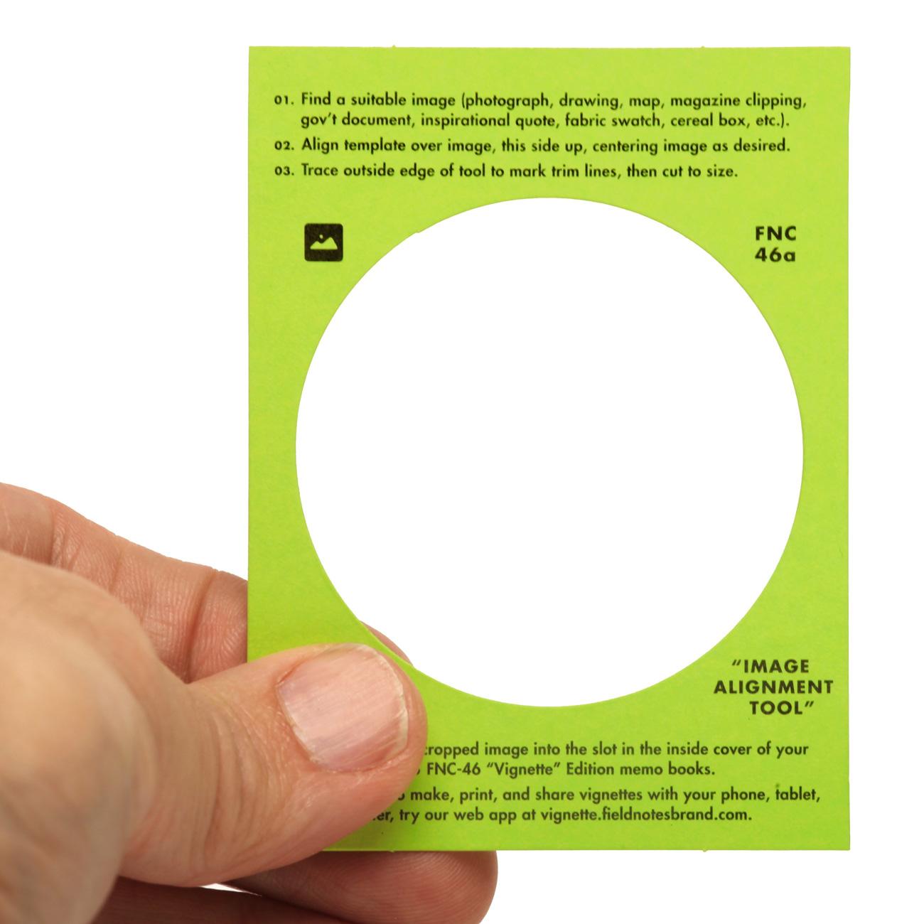 Field Notes, Vignette Edition, Passpartout, Schablone zum Ausschneiden,