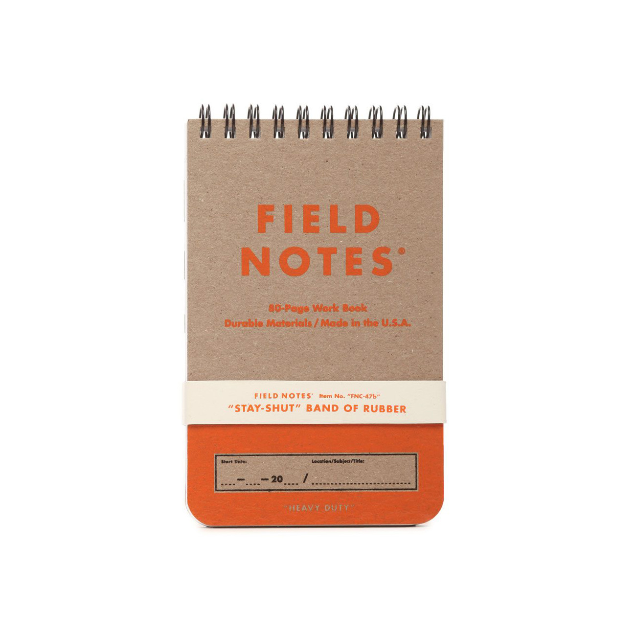 Field Notes, Heavy Duty, Schreibblock, orange