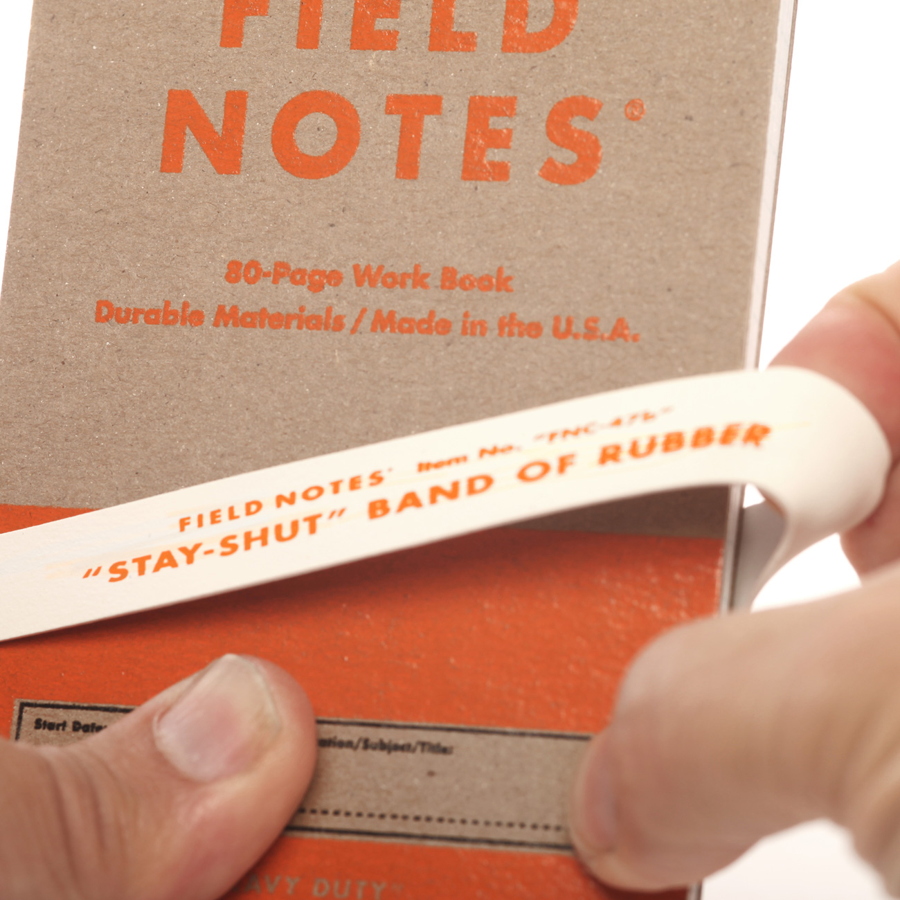 Field Notes, Heavy Duty, StayShut Gummiband, weiß,