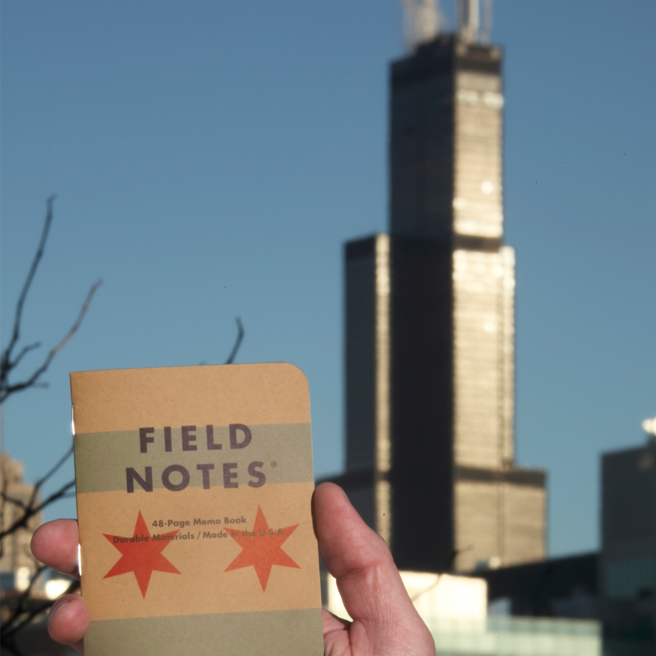 Field Notes, Chicago Edition, Notizheft vor Searstower,