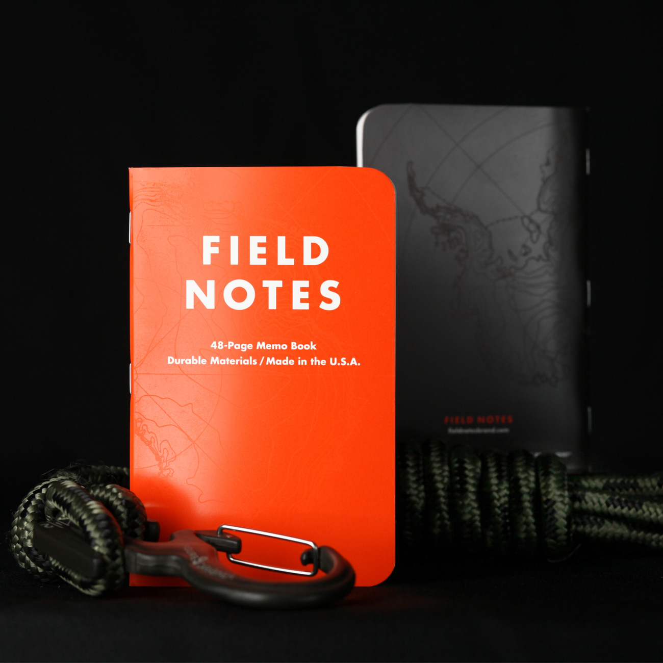 Field Notes, Expedition Notizhefte, orange vorne, hinten schwarz,