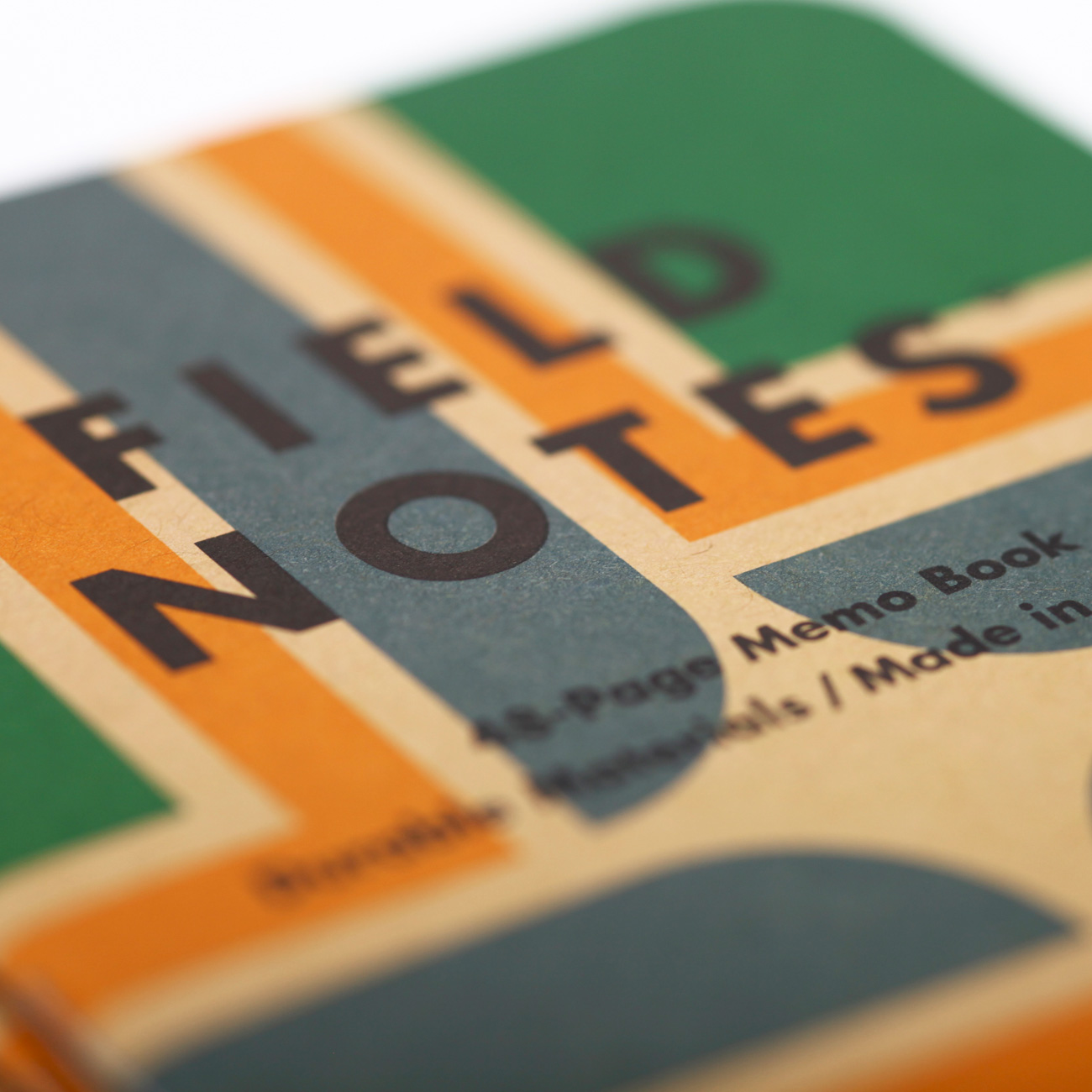 Field Notes, Portland, Notizheft, Detailansicht Cover,