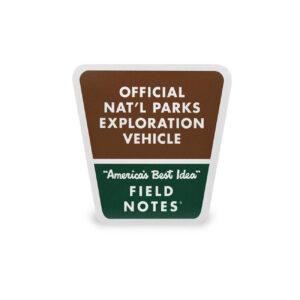 Field Notes, National Parks, Heckscheiben-Aufkleber, Decal