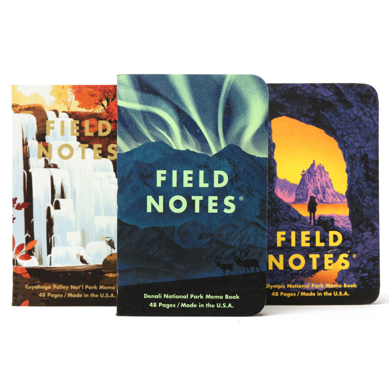 Field Notes, National Parks, Serie E, dreier Set Notizhefte,