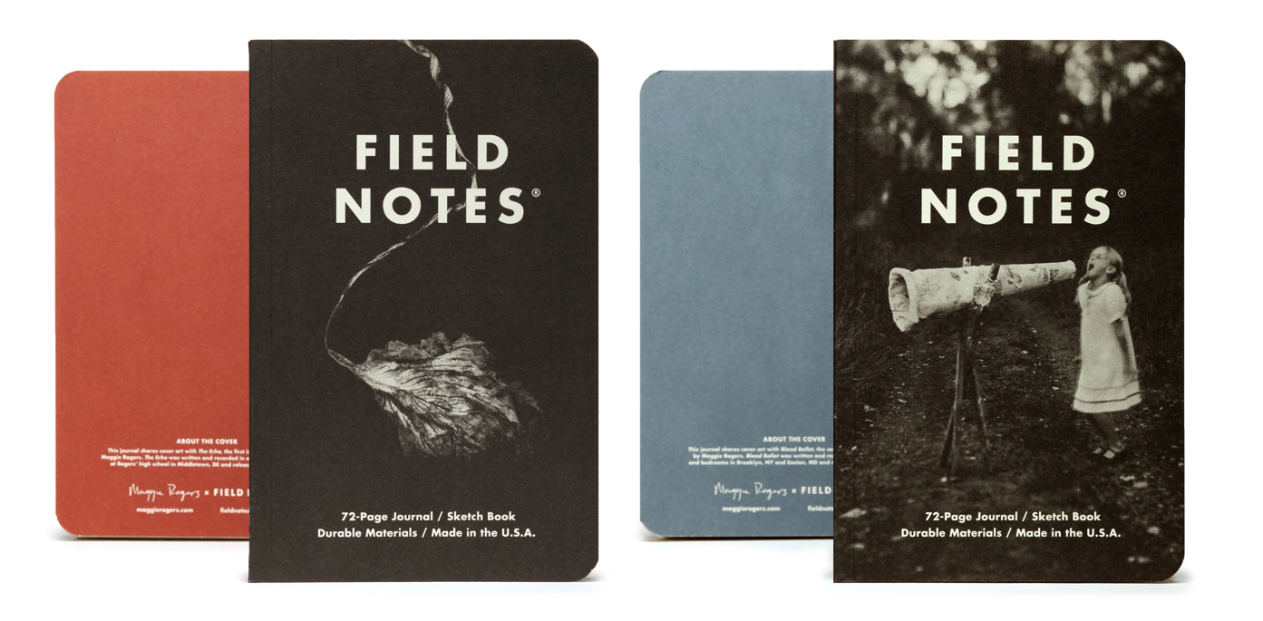 Field Notes, Maggie Rogers, Notizhefte, farbige Rückseiten