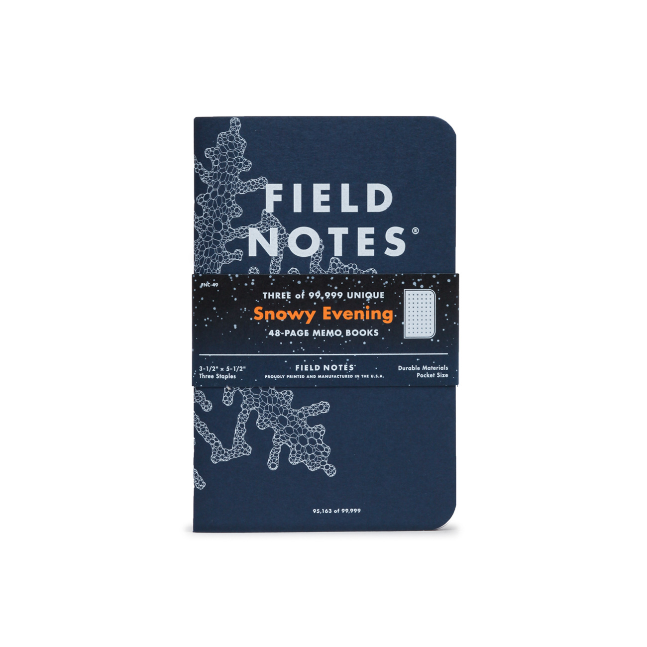 Field Notes, Snowy Evening, Notizhefte im 3er-Set, Front