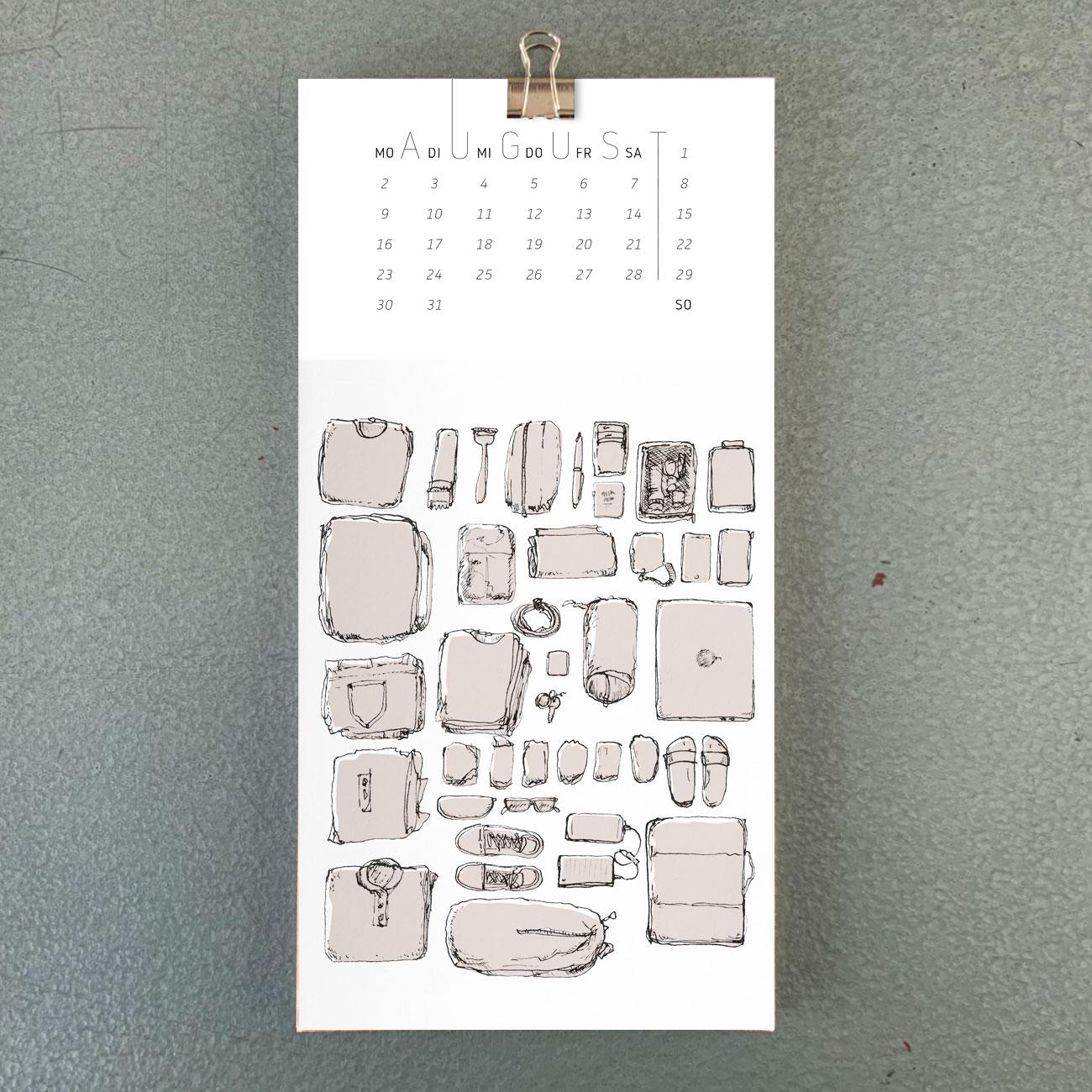 Umwerk Wandkalender 2021 August