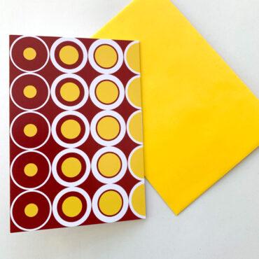 UMWERK – Klappkarte CRAZY KREISE gelb