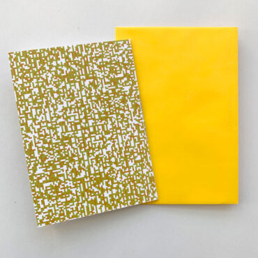 UMWERK – Klappkarte PIXEL IT gelb