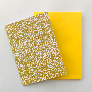 Klappkarte, Pixel, zweifarbig, gelbes Kuvert,