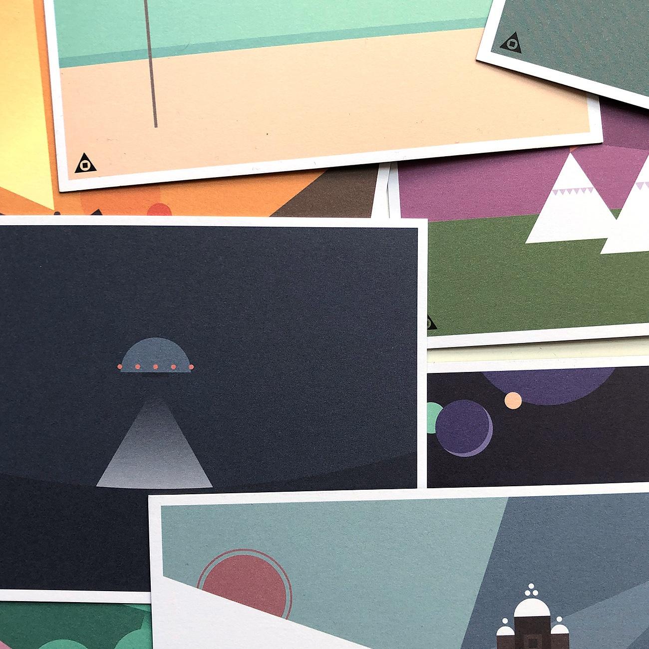 Bogatzki Inc., Postkarten, Landschaften, Ausschnitt