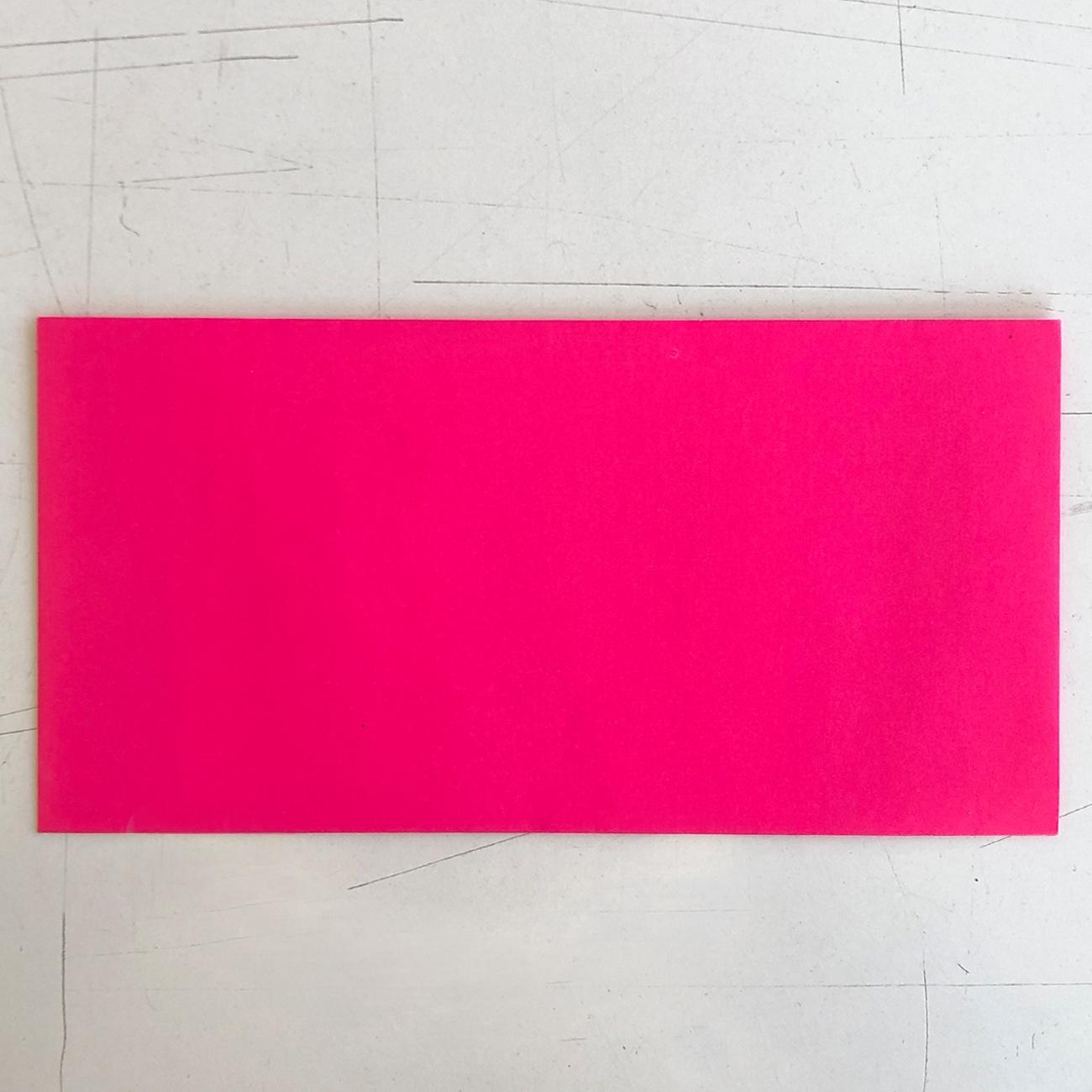 Neonkuvert, neonpink, din lang, selbstklebender Verschluss,