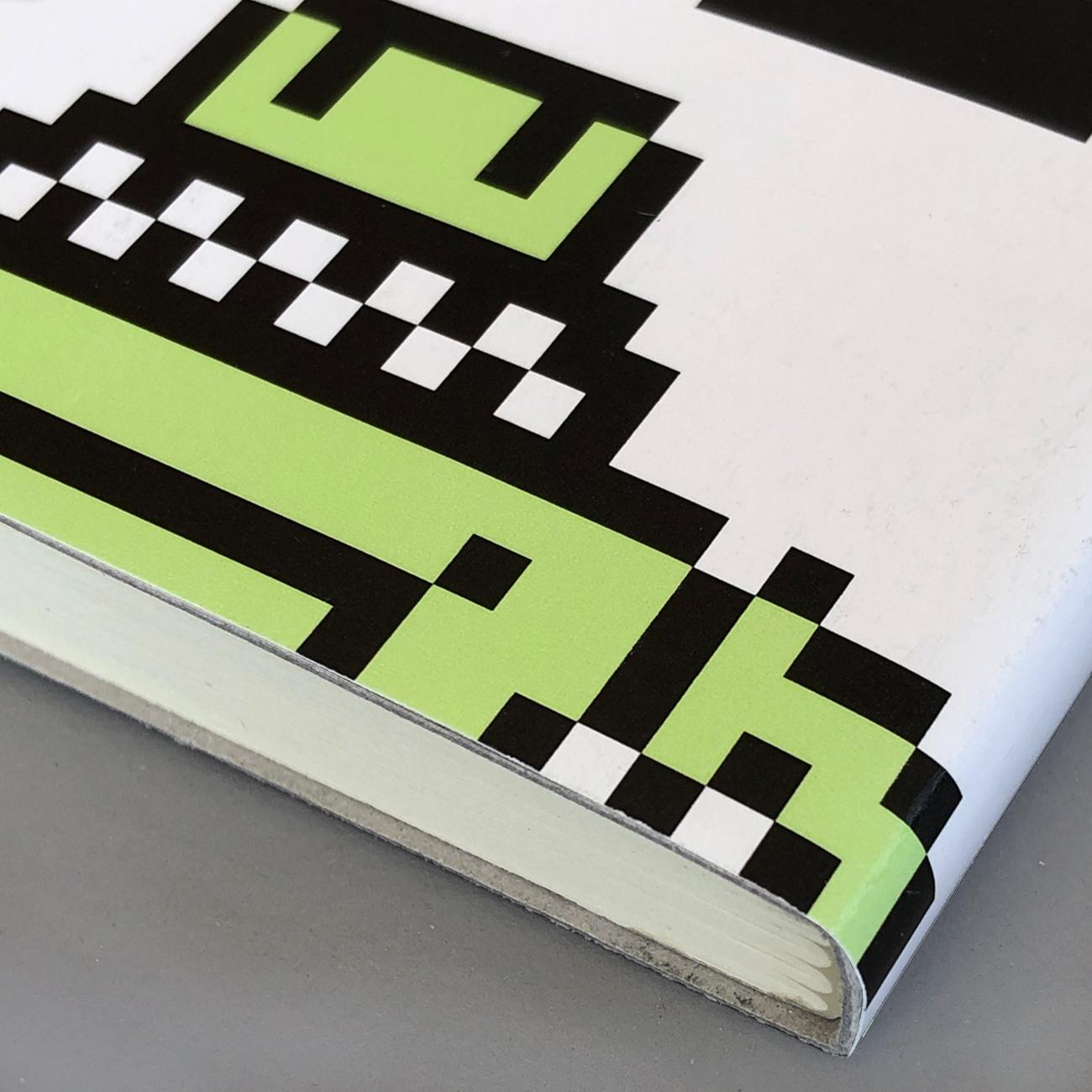 Notizbuch, grafischer Umschlag, altes Plakat, 10 x1 5 cm