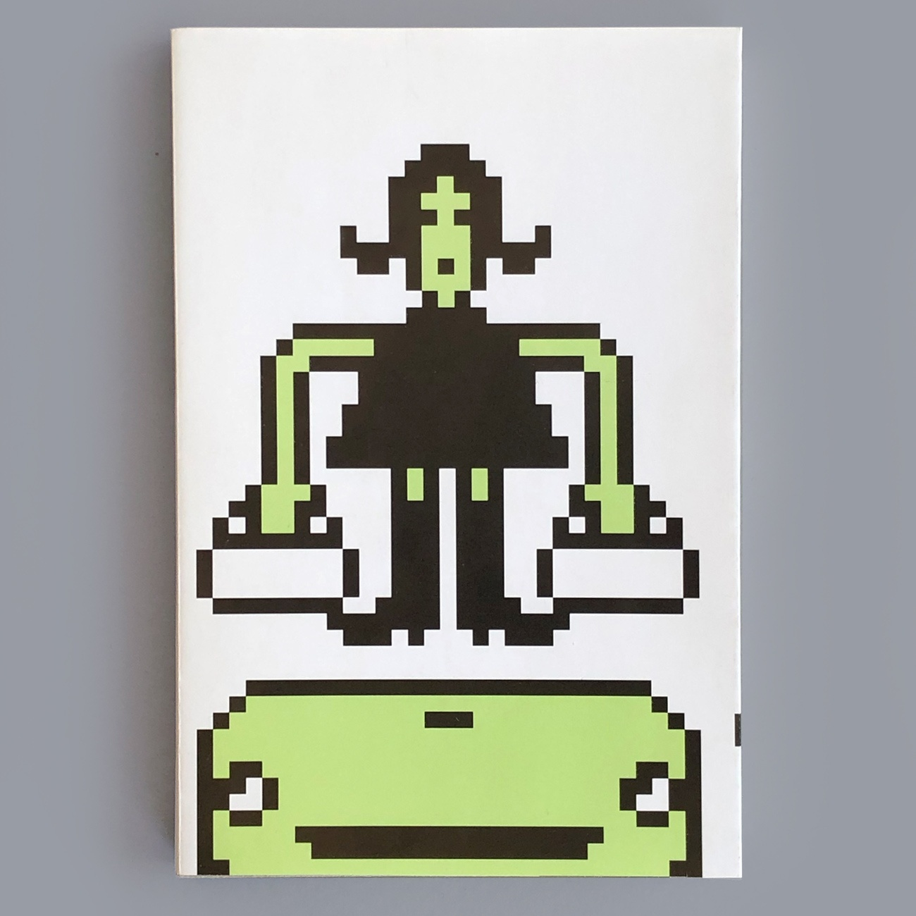 Notizbuch, recycling Papier, gepixelte Figuren, Titelblatt,