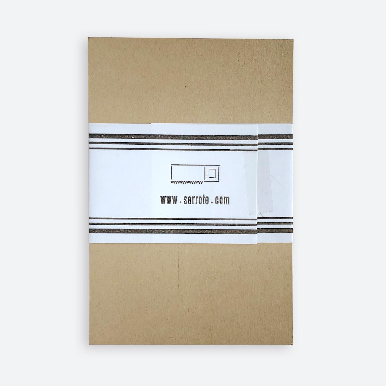 Serrote Postkartenset, 12 Kartren, Rückseite,