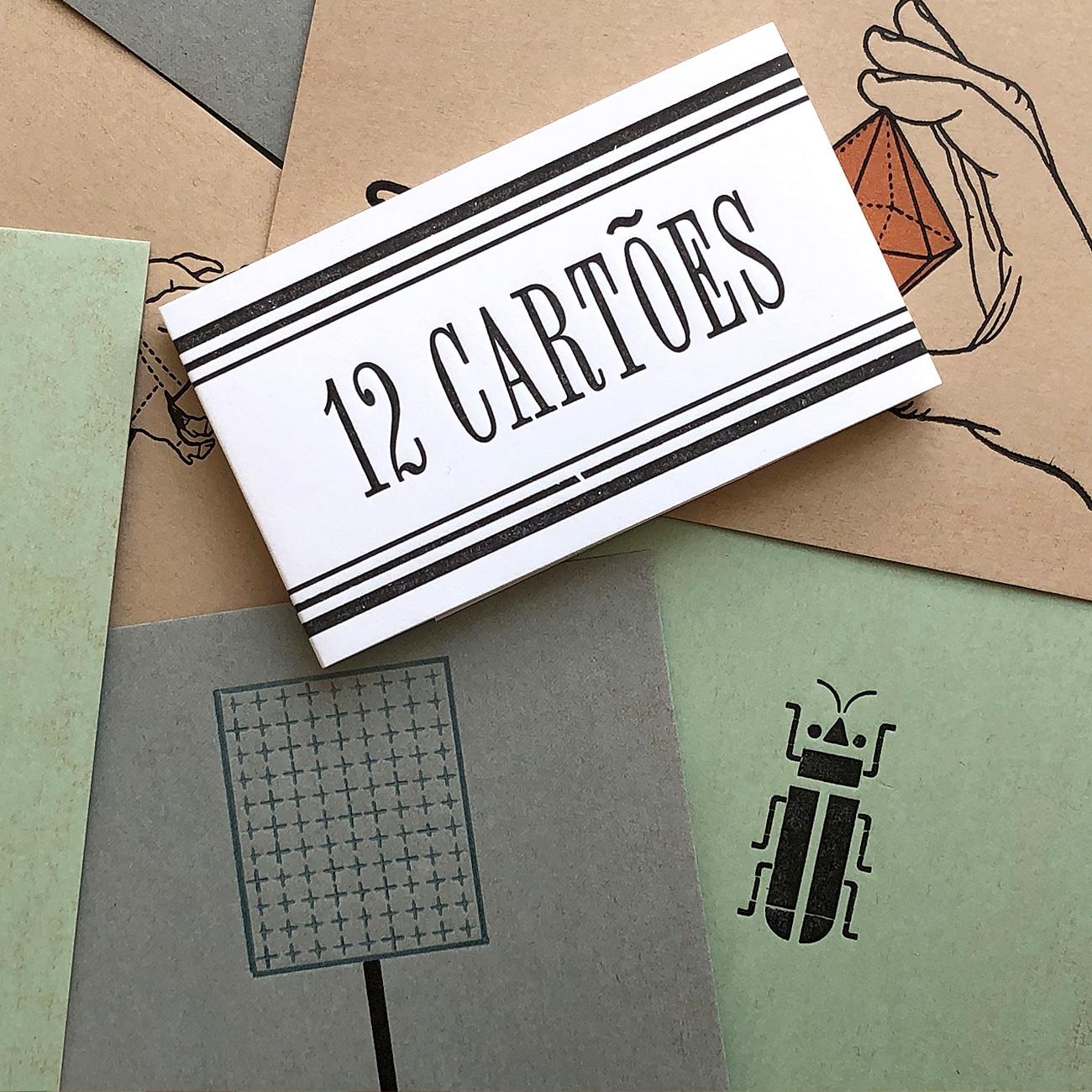 Serrote Postkartenset, Detail, Banderole, schwarzweiß,