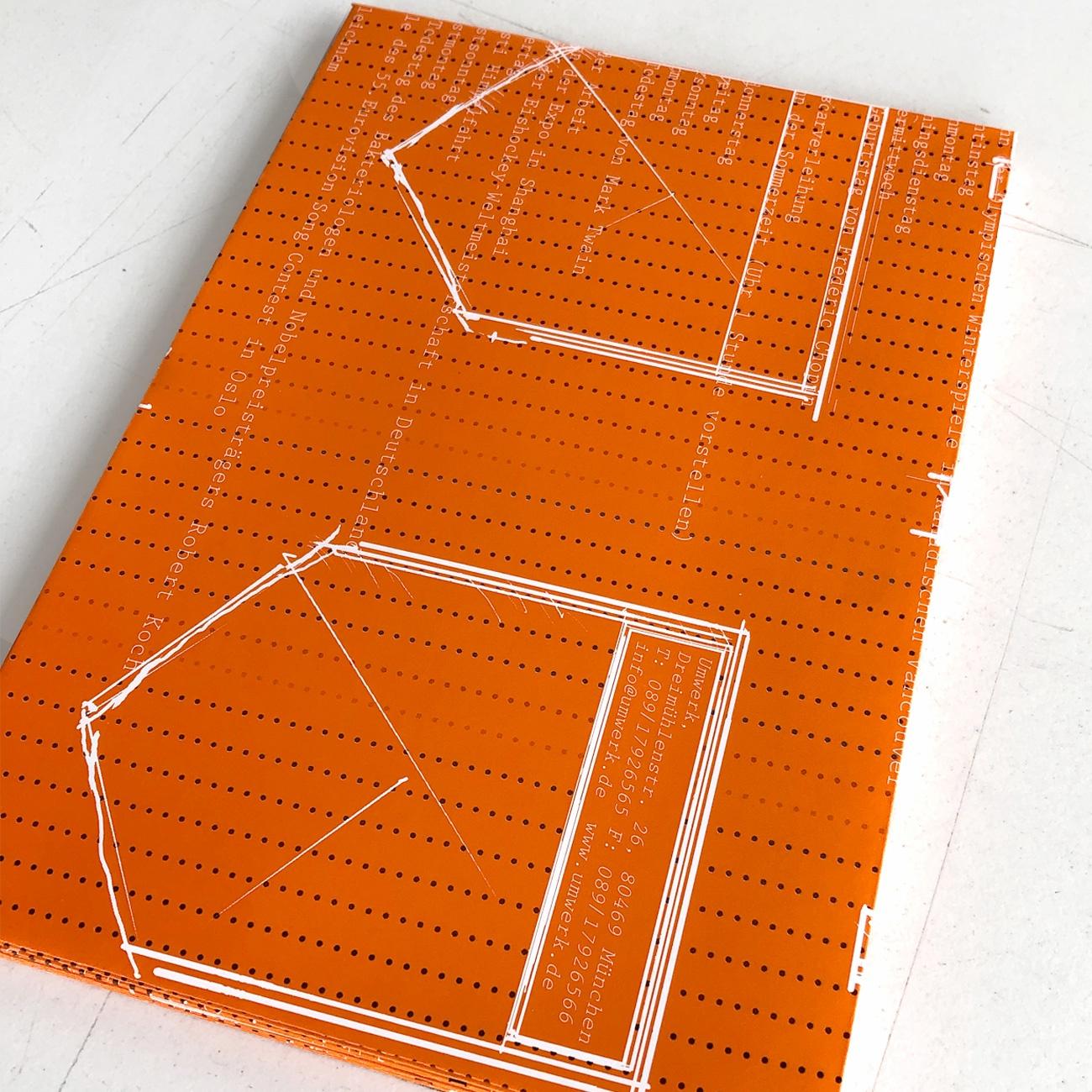 Umwerk Upcycling Kuverts, aus alten Kalenderblättern,