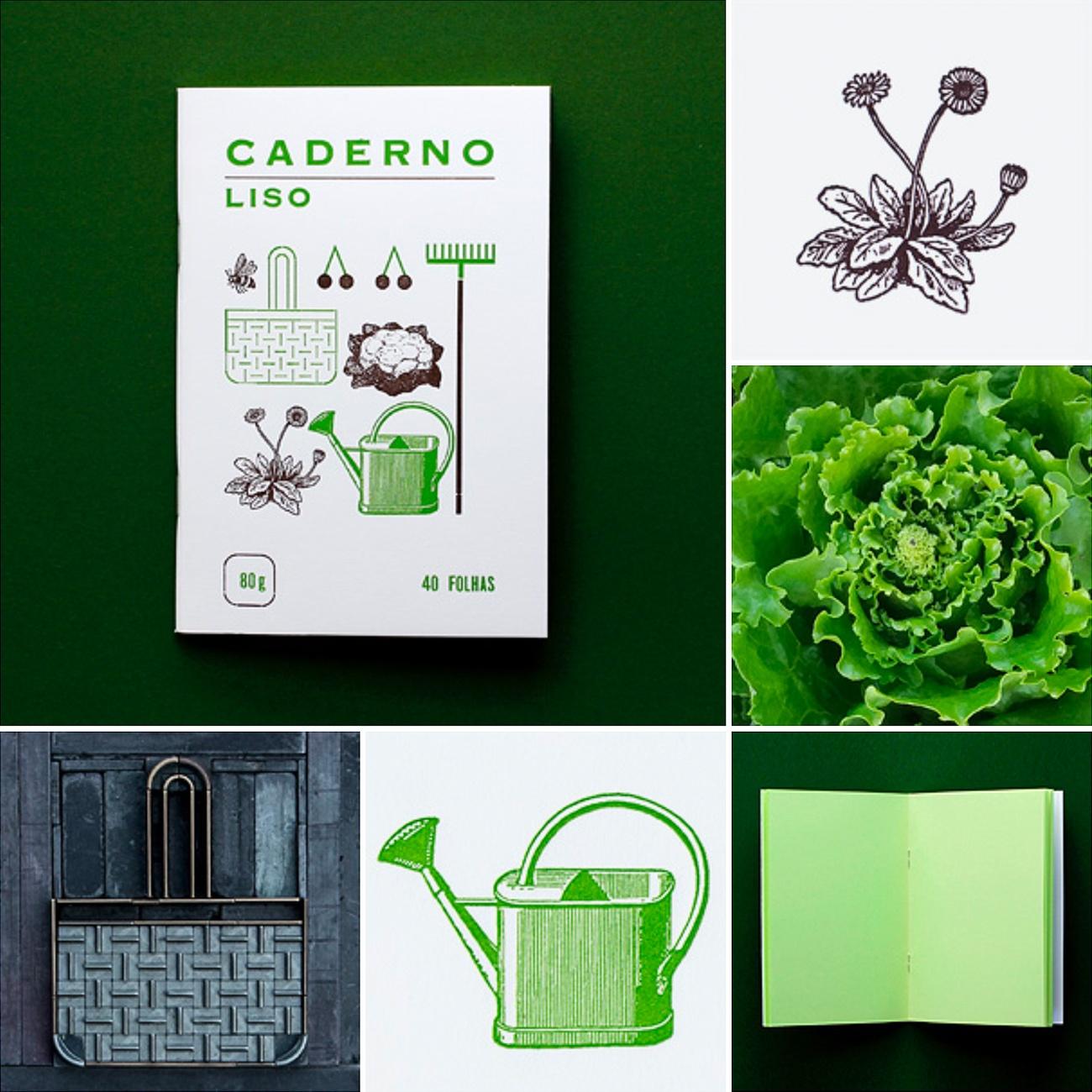 Serrote Notebook, Liso, grün, Thema Garten,