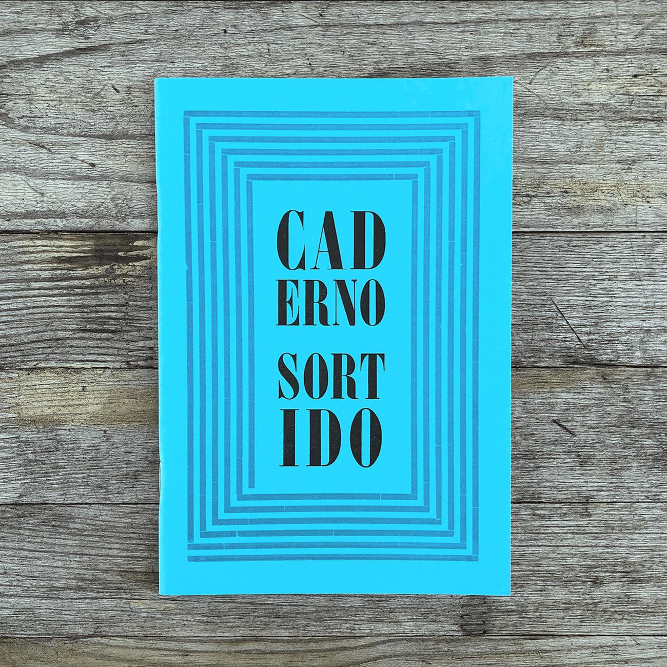 Caderno Sortido, blau, verschiedene Innenblätter, im Buchdruck gedruckt,