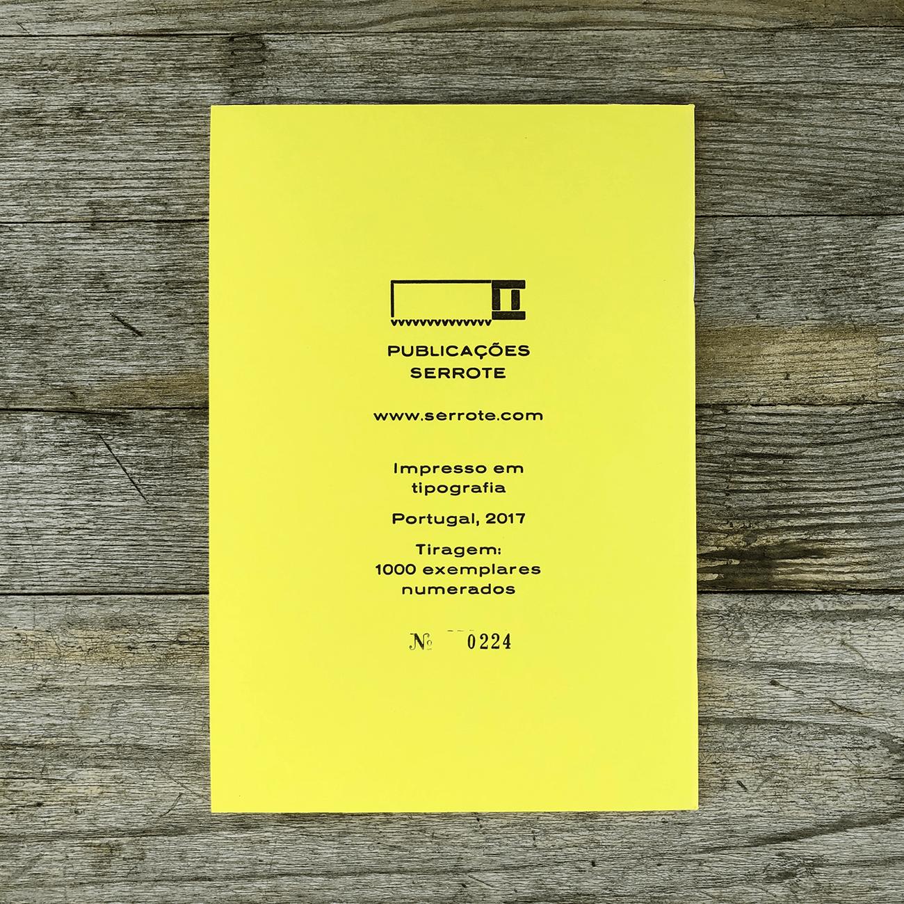 Serrote Notebook, limitiert, Sortido, verschiedene Innenblätter, gelb,