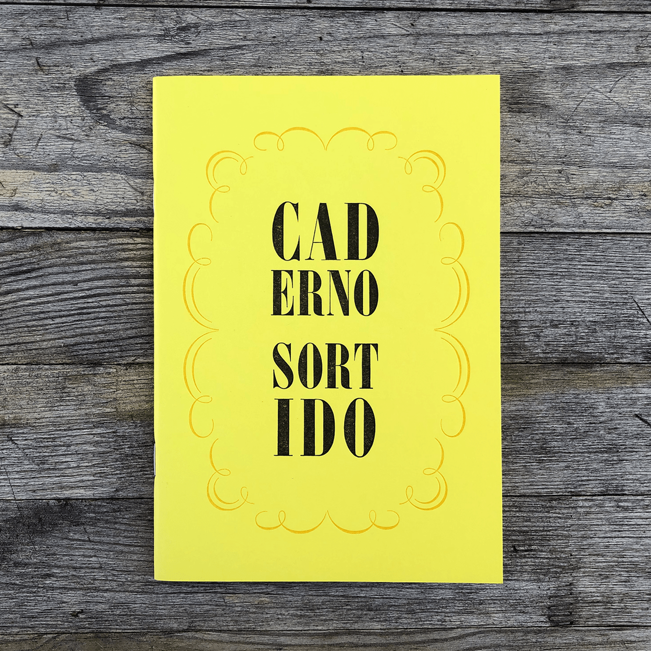 Serrote Notebook, Caderno Sortido, gemusterte, einfarbige Innenseiten, gelb