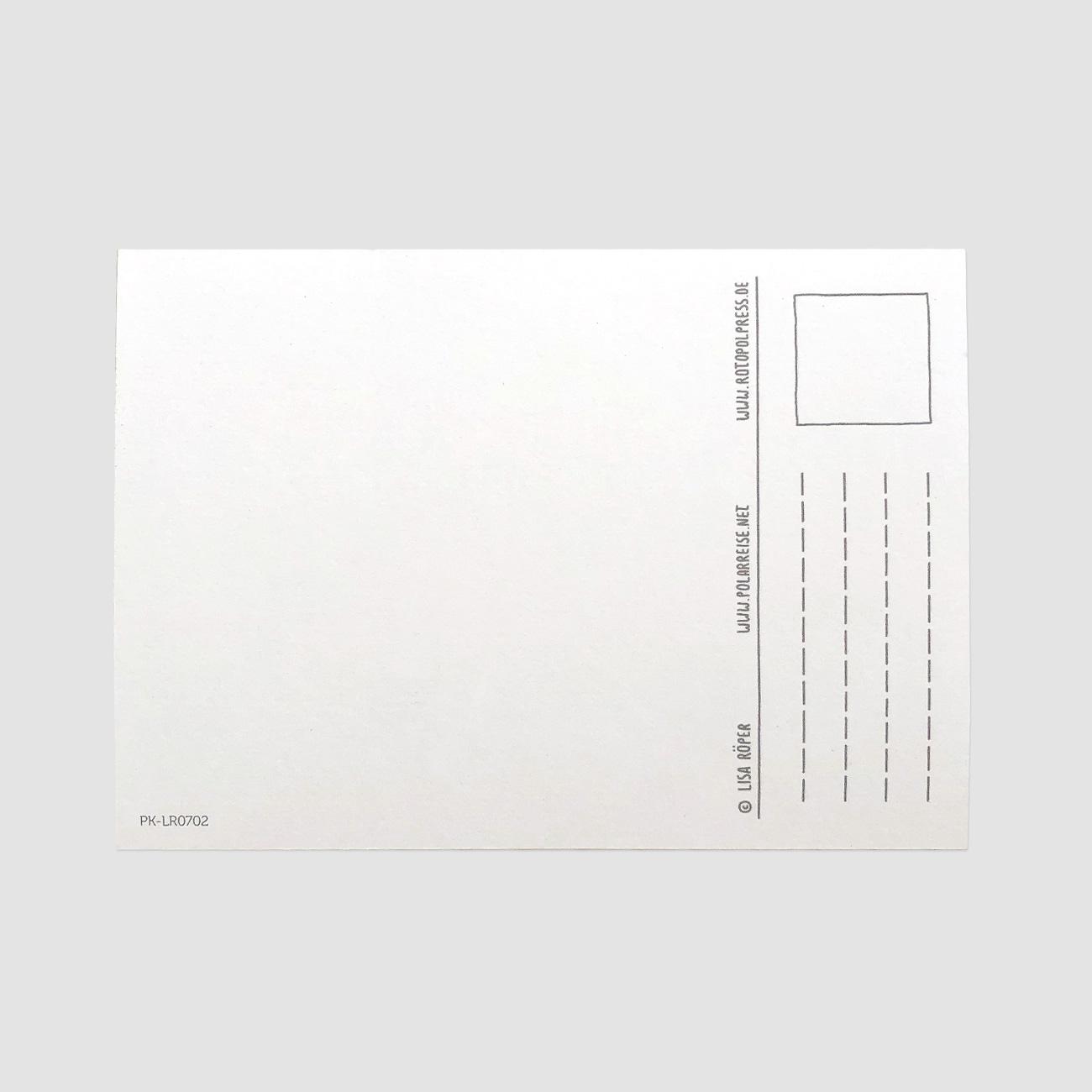 Eismobil, Postkarte, Rückseite, einfarbig, DinA 6,