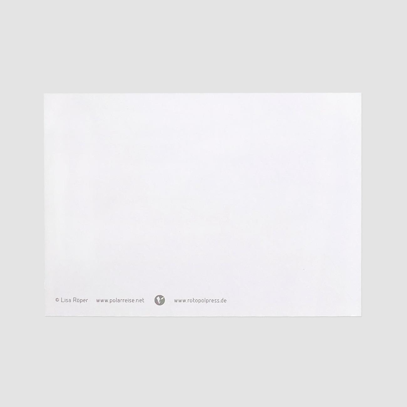 Rotopolpress, Postkarte, Rückseite, einfarbig, DinA 6,