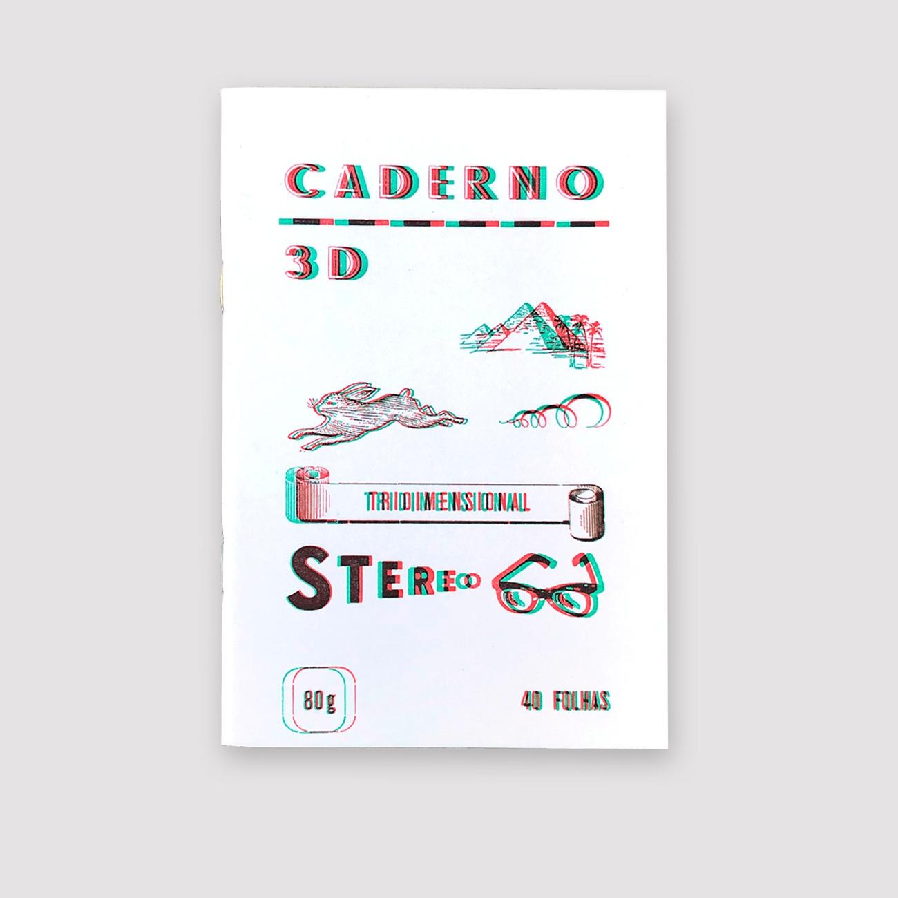 Serrote Notebook, 3D grünrot, im Buchdruck gedruckt,