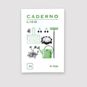 Serrote Notebook, Thema Garten, grüne Innenseiten, made in Portugal,