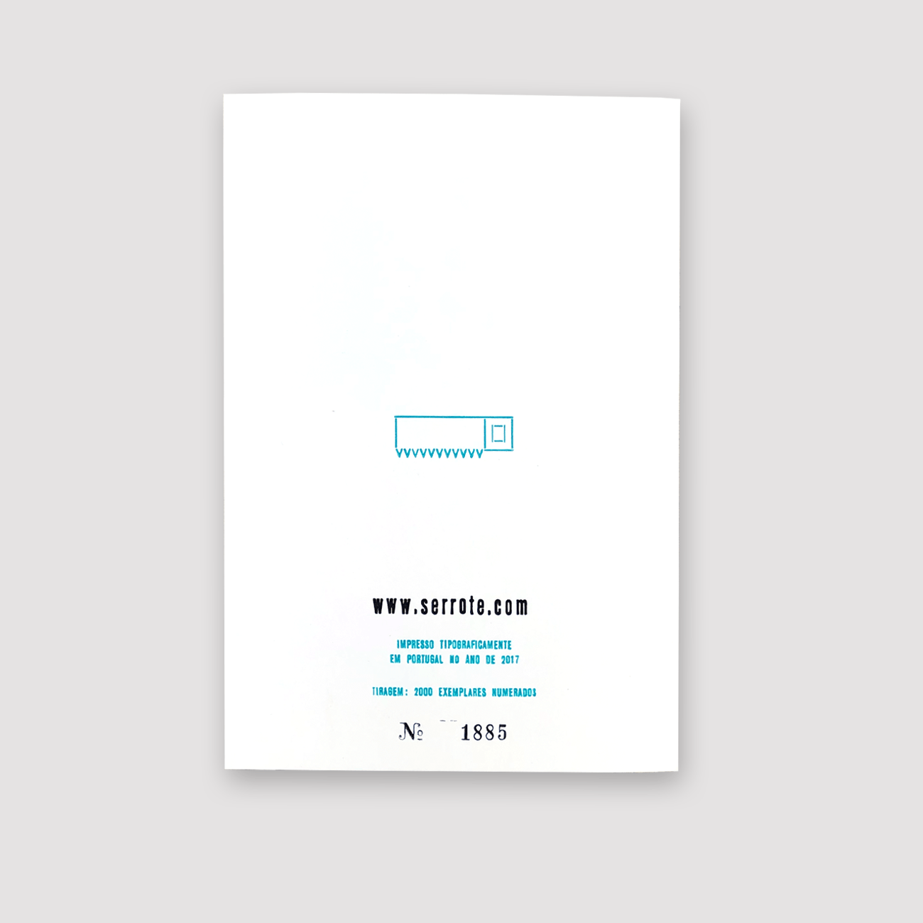 Serrote Notebook, Papel Esquico, Rückseite, Buchdruck, limitiert,