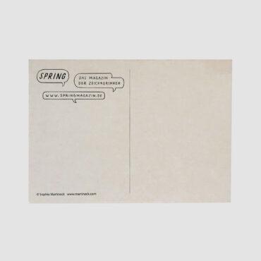 SPRING – Postkarte HUND
