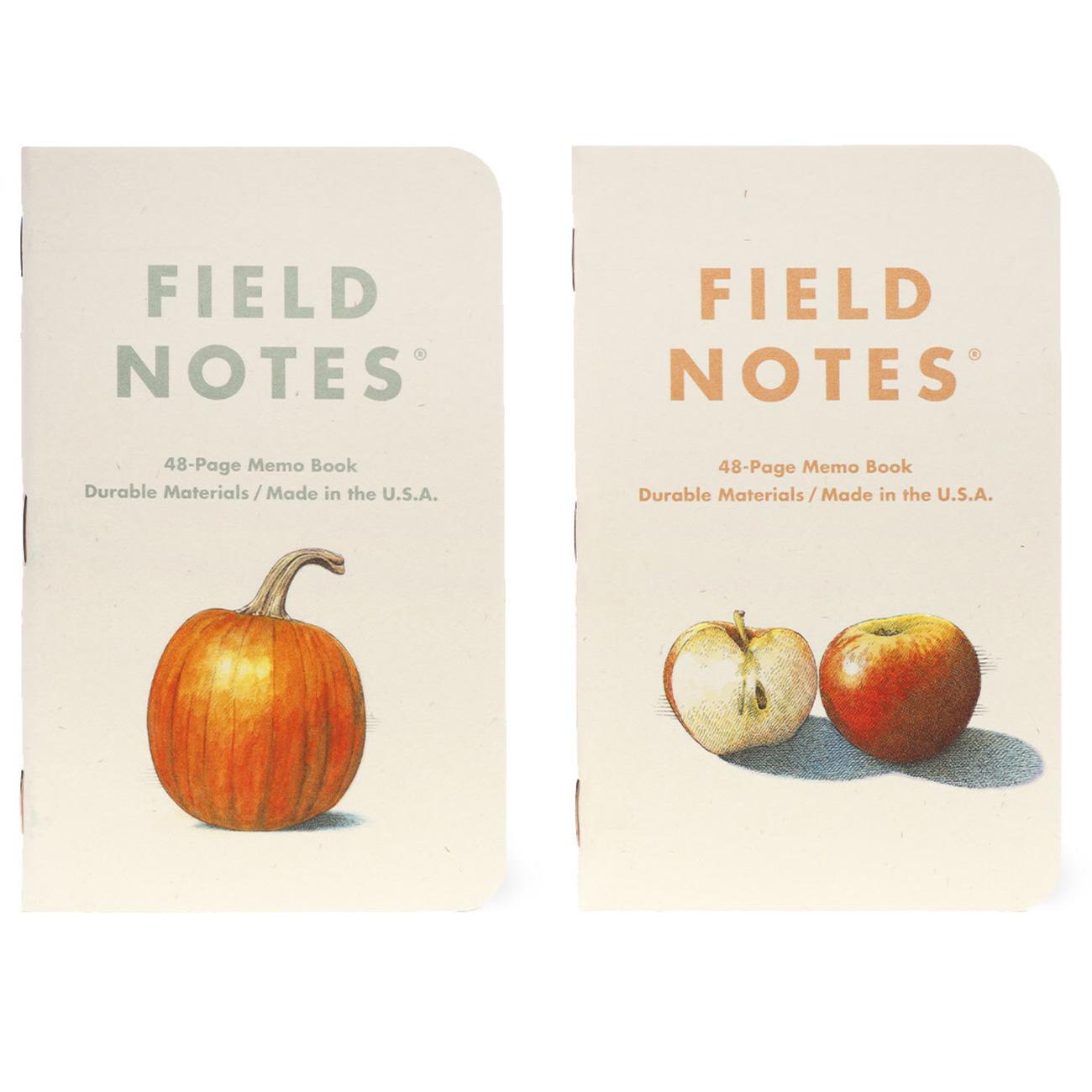 Field Notes, Harvest, Notizhefte im 3er-Set, Illustriert