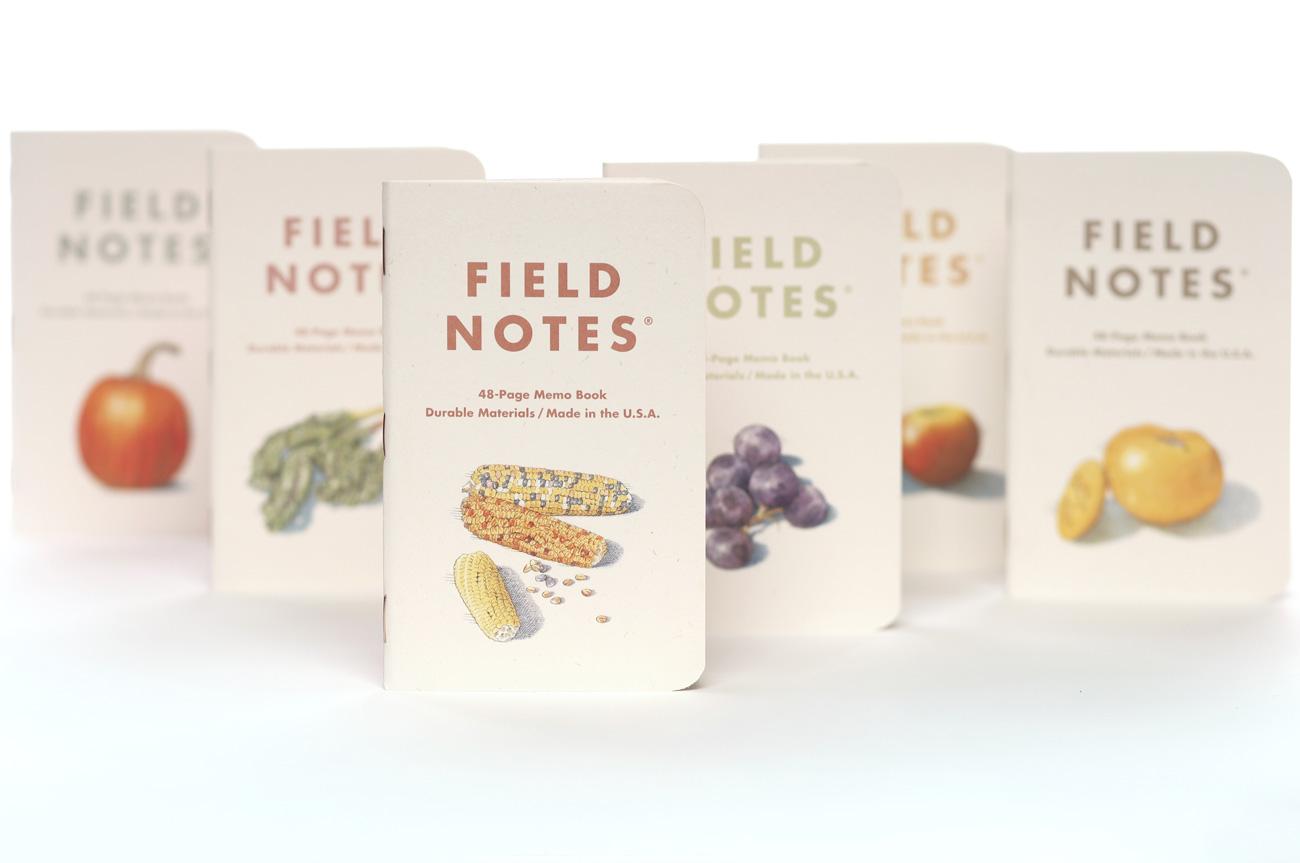 Field Notes, Harvest, sechs Notizhefte, Illustriert