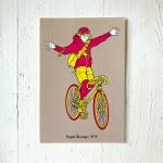 9 LIVES DESIGN - Postkarte BICYCLE MESSENGER