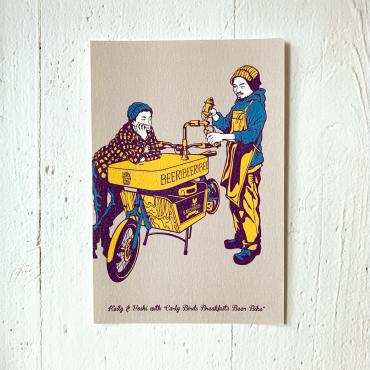 9LIVES – Postkarte BEERBIKE