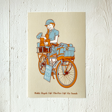 9LIVES – Postkarte MOBILE BICYCLE CAFE