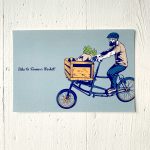 9 LIVES DESIGN - Postkarte BIKE TO FARMER'S MARKET