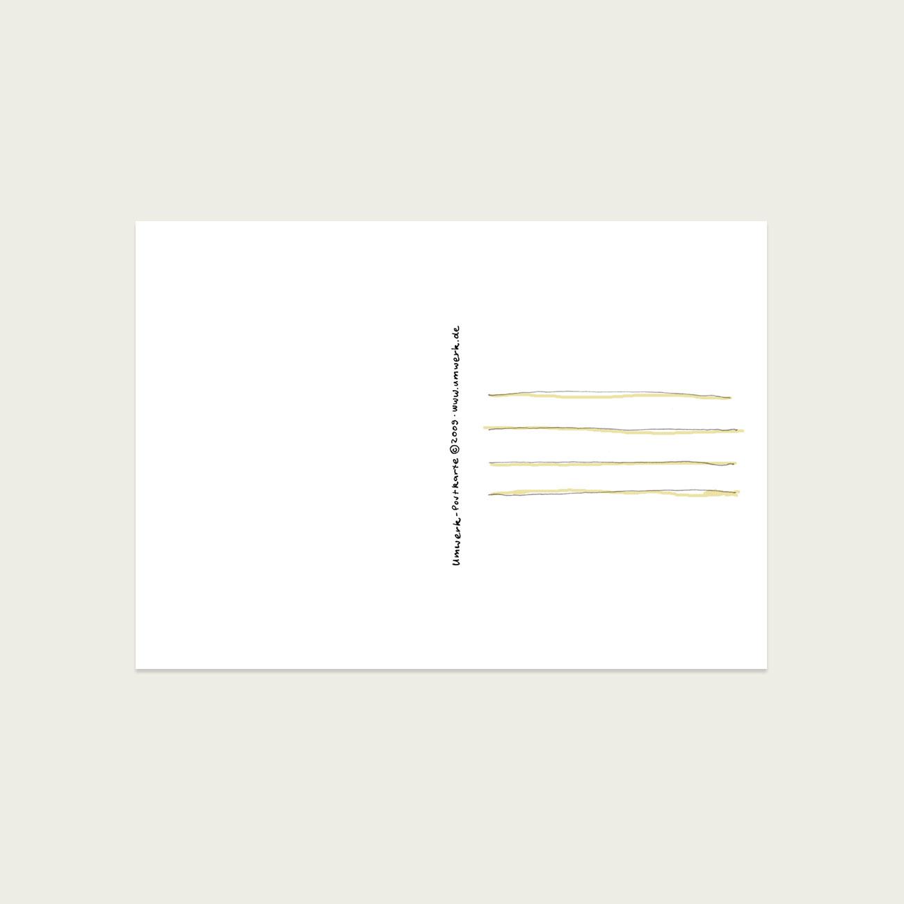 UMWERK - Postkarte ALLES GUTE Rückseite