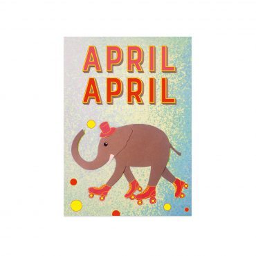 UMWERK – Postkarte APRIL APRIL