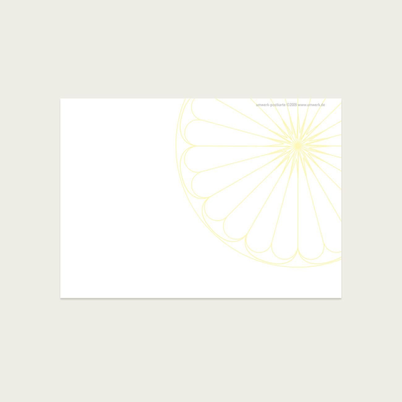 UMWERK - Postkarte DANKE! Rückseite