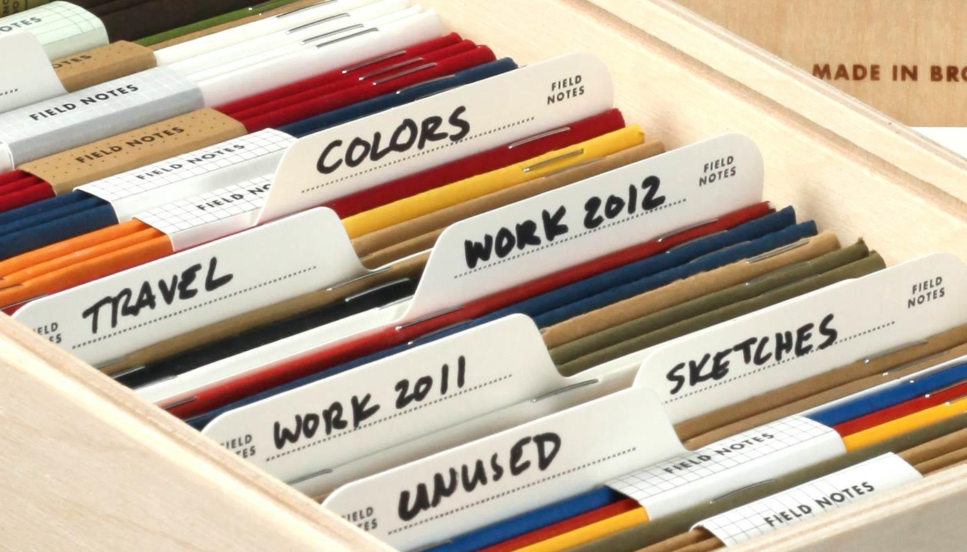 Archivbox, in Gebrauch, Notizheft Aufbewahrung,